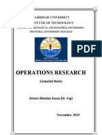 Operation Research - Compiled Notes