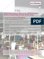 TB Care for Garment Factory Workers Using PPP in Bangladesh May2013