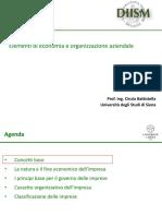 1 Slide EOA Modulo I - Classificazione Imprese
