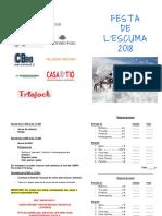 Festa de l'Escuma 2018 de final de curs a l'Elisa Badia