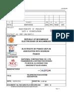 NCC MOZ ELE GEN DRG 304 Teleprotection System Description Rev 4