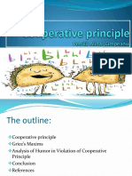 -Presentation Cooperative-Principle and Humor