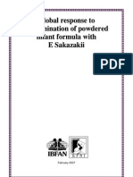 Global Response to Contamination of Powdered Infant Formula With E Sakazakii