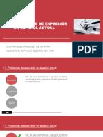 1.1. Problemas de Expresión en Español Actual