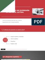 1.3. Problemas de Expresión en Español Actual