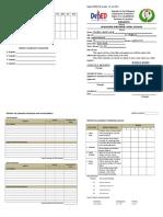 Deped Form 138 - SHS