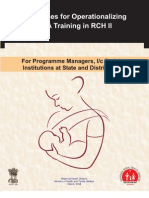 Guidelines for Ope Rationalizing SBA Training in RCH2- For Program Managers, IC Training Institutions at State and District Level_0