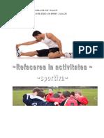 Refacerea in Activitatea Sportiva