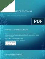 Funciones de Potencial
