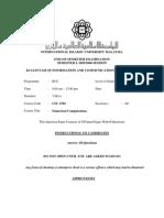 CSC2702 - Numerical Computations (Sem 1-0506)