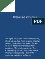 Organizing Sentences