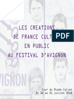 Programmation Fictions France Culture Festival Avignon 2018