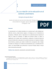 Comunicación y Su Relación Con La Educación en El Contexto Universitario