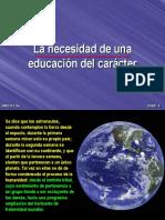 01-La Necesidad de Una Educacion Del Caracter