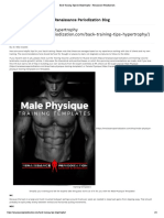 Back Training Tips for Hypertrophy - Renaissance Periodization