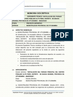 1.- Memoria Descriptiva General