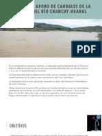 Estudio de Aforo de Caudales de La Cuenca CHANCAY