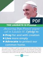 Pledge Prayer Postcard for peace