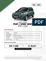 Fiat Unoway Pop 3507