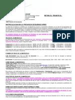 Matriculacion Provincia de Buenos Aires 2018
