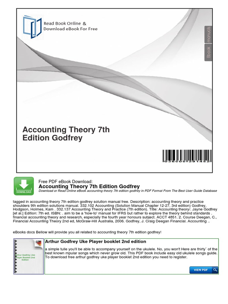 7th ebook accounting free download godfrey edition theory