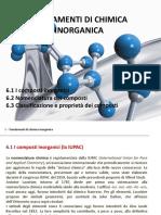 Cap. 6 Fondamenti Di Chimica Inorganica
