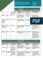 2018 SHADAC Presentation Schedule_v4 for WEB