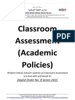 Academic Policies or Classroom Assessment