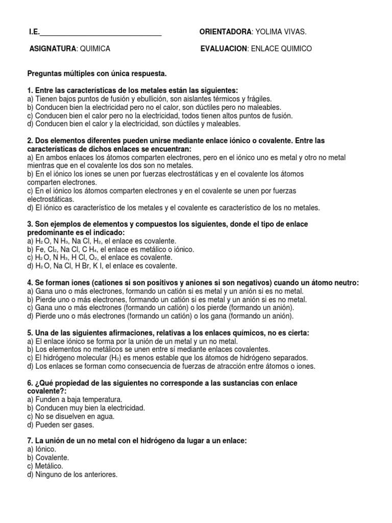 Magnífico QuÃmica If8766 Hoja Respuestas Fotos - hojas de trabajo ...
