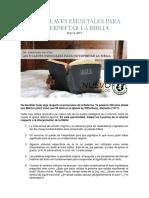 Las 5 Claves Esenciales Para Interpretar La Biblia