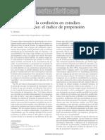 Lectura 1. Control de La CONFUSION en Estudios Observacionales