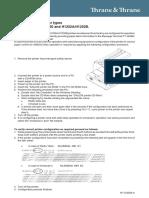Thrane and Thrane Printer Configuration Manual