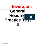 Ieltsfever General Reading Practice Test 3 PDF