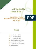 Joins and Cardinality Rmcug May 2013 Presentation (1)