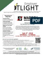 Employer Spotlights July 2018