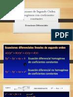 Edo Homogeneas Con Coeficientes Constantes