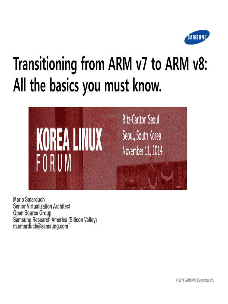 Transitioning From ARM v7 to ARM v8_All the Basics Your Must Know