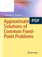 Approximate Solutions of Common Fixed-Point Problems_A. J.zaslavski