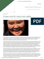 Unos Con Fe, Otra Con Rabia _ Rosa María Palacios