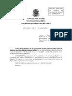 Portaria n 321 2013 - Manual de Atribuicoes Organicas e Funcionais Da Pfe-Anatel Texto Compilado