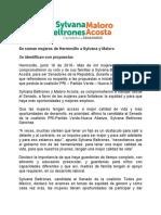 16/06/2018 Se suman mujeres de Hermosillo a Sylvana y Maloro