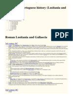 Timeline of Portuguese History (Lusitania include Gallaecia)