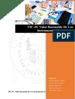 Nic 39 Valor Razonable Estados Financieros