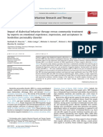 +++Impact of dialectical behavior therapy versus community treatment