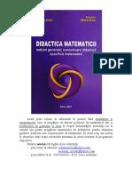 Didactica Matematicii Coperta Vol1 LiviuA