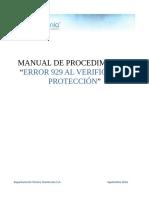 Manual de Procedimiento Error 929