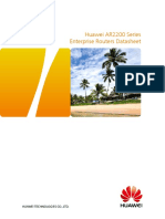 HUAWEI AR2200 Series Enterprise Routers Datasheet