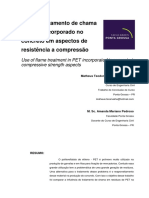 Use of Flame Treatment in PET Incorporated in Concrete in Compressive Strength Aspects . Matheus Teodoro Soares de Carvalho