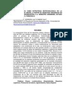 Lombricultura (Eisenia Foetida) Como Estrategia Biotecnológica en La Producción de Abono, A Partir de Desechos Orgánicos