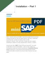 MiniSAP Installation